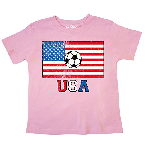 inktastic - USA Soccer Toddler T-Shirt 5/6 Pink 2e20f
