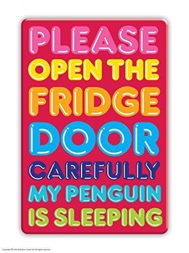 My penguin is sleeping fridge magnet amazon kitchen home my penguin is sleeping fridge magnet reheart Gallery