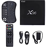 X96 Plus Smart Tv Box, Android 6.0 KODI 16.1 4K Smart TV Box, Quad Core 1GB/8GB with Wireless Keyboard by YTAT