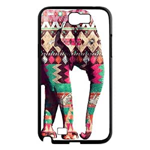 Customized Durable Case for Samsung Galaxy Note 2 N7100, Colored Elephant Phone Case - HL-697624