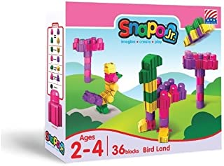 product image for Snapo Jr Bird Land 36 Piece Multi Color Block Set