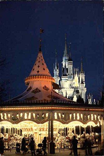 Disney Castle Carousel - Castle and Carousel Orlando, Florida Original Vintage Postcard