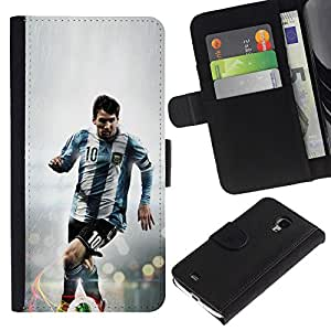 Stuss Case / Funda Carcasa PU de Cuero - 10 Messi - Samsung Galaxy S4 Mini i9190