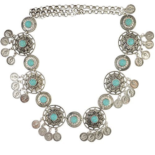 Summer Carved Flower Natural Turquoise
