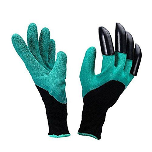 Garden Genie Gloves with Claws Working Glove Waterproof Digging Planting Rose Pruning Glove for Women Men As Seen On TV