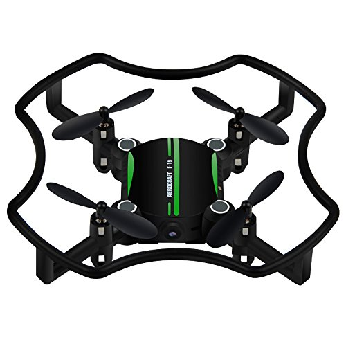 Littleice Florld F-19W Remote Control Mini Drone Altitude Hold 3D Flips LED RC Quadcopter With FPV 480P Camera by Littleice