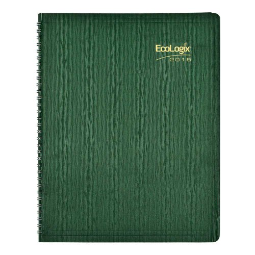 Brownline 2015 Ecologix Monthly Planner, 14 Months (December 2014 - January 2016), Twin-Wire, Green, 11 x 8.5 Inches (CB435W.GRN-15)