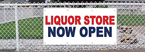 Liquor-Store-Now-Open-Red-Blue-13-Oz-Vinyl-Banner-Sign-With-Grommets-3-Ft-x-6-Ft