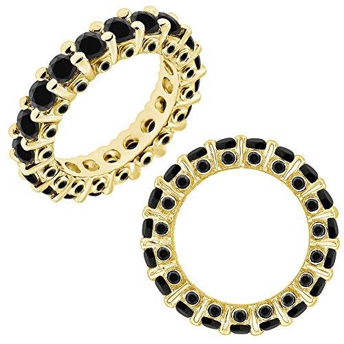 - 2.25 Carat GH Diamond Beautiful Italian Designer Full Eternity Band Bridal Ring 14K White And Yellow Gold