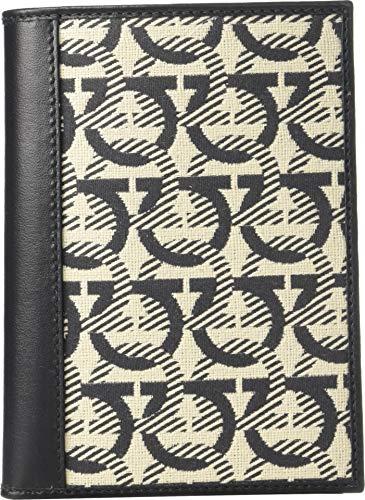- Salvatore Ferragamo Men's Gancini Passport Holder - 66A413 Beige/Black One Size