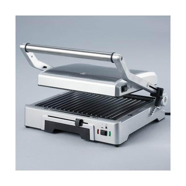 Severin KG 2392 Bistecchiera elettrica, 1800 W, 2 piastre rimovibili e antiaderenti per diversi tipi di cottura, Acciaio… 3
