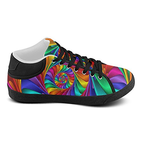 Artsadd Psychedelic Rainbow Spiral Chukka Canvas Shoes For Women(Model003) usUvuf