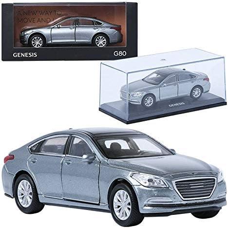 [해외]TreForze 1:38 Genesis G80 Silver Display Mini Car Miniature Car / TreForze 1:38 Genesis G80 Silver Display Mini Car Miniature Car