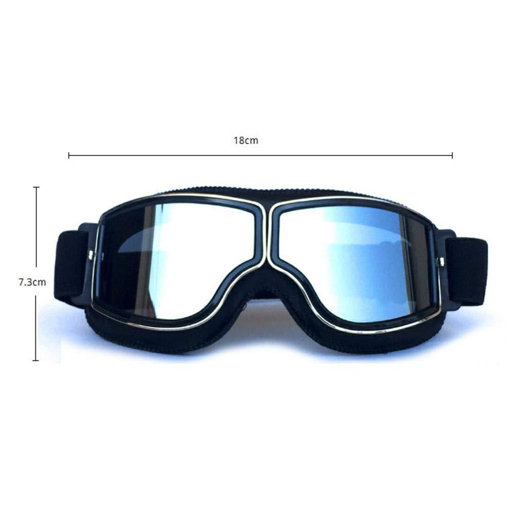 Easy-topbuy Skibrillen Brillentr/äger Verspiegelt Motorrad Goggle Off-Road Schutzbrille Winterbrille Brille Vintage Helmbrille Motocrossbrille Vintage Brille Reitbrille
