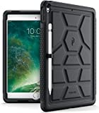 Poetic TurtleSkin iPad Pro 10.5 Rugged Case Cover With Heavy Duty Protection Silicone Pencil Holder Sound-Amplification feature for Apple iPad Pro 10.5 (2017) Black