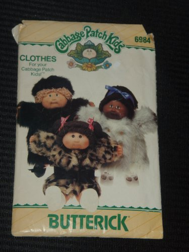 Butterick 6984 Sewing Pattern Cabbage Patch Kids Coats