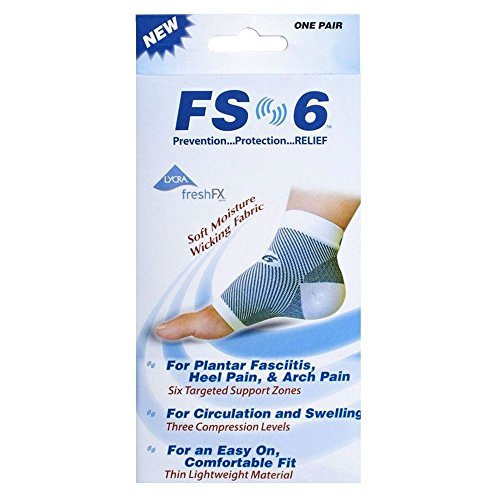 FS6 Compression Foot Sleeve S/M Sizes 4-8 - Pack of 2