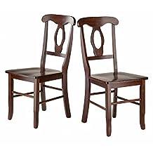 Winsome Wood 94208 Renaissance 2 Piece Set Key Hole Back Chairs