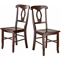 Winsome Wood Renaissance 2-PC Set Key Hole Back Chairs