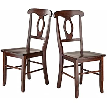 Winsome Wood Renaissance 2 PC Set Key Hole Back Chairs