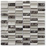 Box 10 Tiles Marble & Glass Mosaic Tile 12''x12'' FOGGIA-MX011 (10)