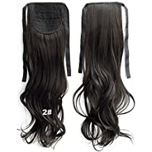 22inch 80g Clip In Pony Tail Hair Extension Wrap Around Ponytail Hair Extension Piece Light Brown color 2