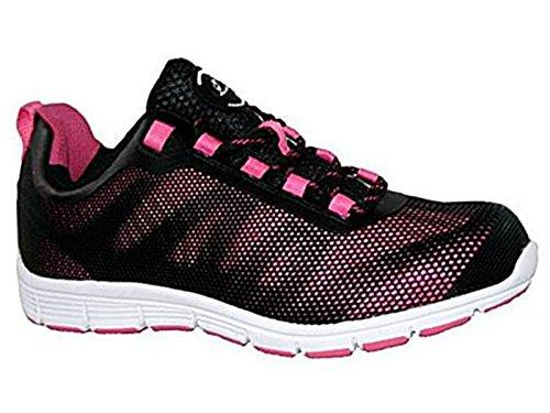 Groundwork - Zapatillas de seguridad mujer rosa/negro