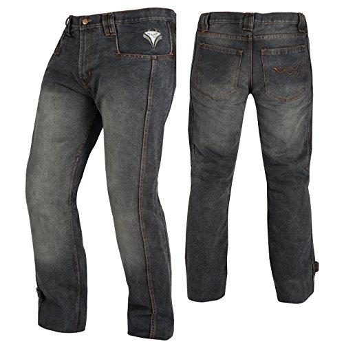 A-Pro Hose Jeans CE Protektoren Motorrad Verstaerkungen Motorradjeans Schwarz 34