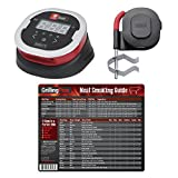 GrillingPros Weber iGrill 2 Thermometer with iGrill Pro Ambient Tempetraure Probe Meat Smoking Guide Magnet