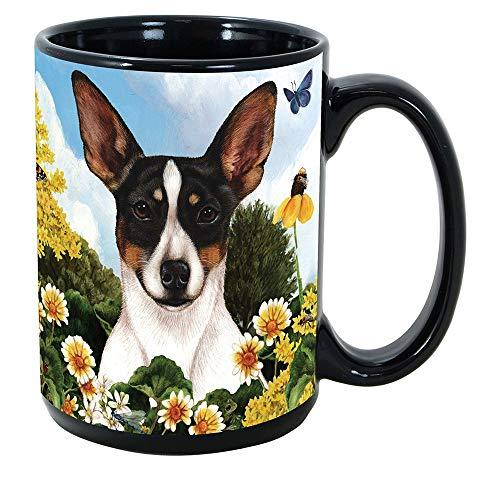 Imprints Plus Dog Breeds (R-Z) Rat Terrier 15-oz Coffee Mug Bundle with Non-Negotiable K-Nine Cash (rat terrier 141)