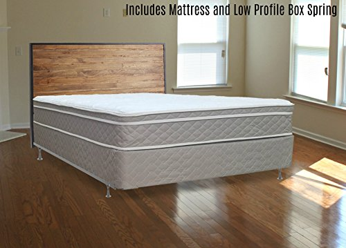 Continental Mattress 10″  Pillowtop Eurotop  Fully Assembled Orthopedic Back Support  Plush Mattress and 5-Inch Box Spring,Full
