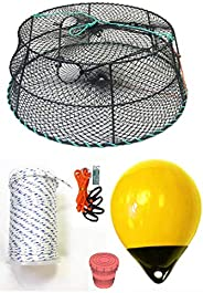 KUFA Sports Tower Style Vinyl Coated Prawn Trap with Prawn Trap Accessory Combo(CT78+PAS30Y+HA2)