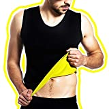 ARAMANTO Men's Hot Sweat Sauna Neoprene Vest M Size Workout Tank Waist Trainer Corset for Weight Loss Body Shaper Compression Trimmer Tummy Fat Burner Shirt Exercising Slimming Top Prime