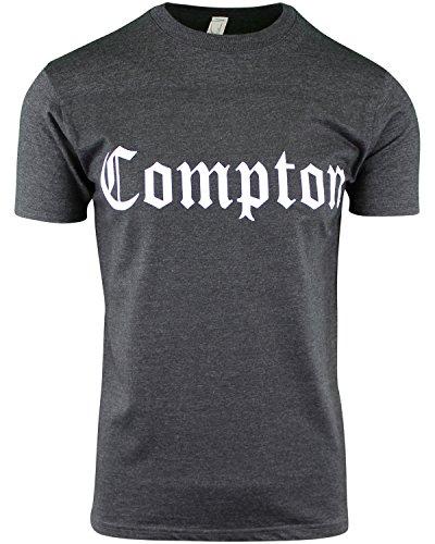 West Side Original Clothing (Charcoal Heather Mens Compton Crew Neck T Shirt L)