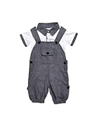 GOGOBO Newborn Infant Baby Short Sleeve T-shirt + Jumpsuit baby Set