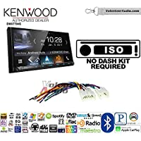 Volunteer Audio Kenwood DMX7704S Double Din Radio Install Kit with Apple CarPlay Android Auto Bluetooth Fits Non Amplified 1987-2009 Toyota 4Runner, 1987-2015 Camry, 1995-2015 Tacoma