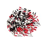 uxcell 80pcs Red Black Vehicle Car Battery Insulated Test Clamps Alligator Clips