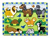 Melissa & Doug Pets Wooden Chunky Puzzle (8 pcs)