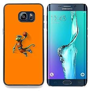 - Basketball Chameleon Lizard - - Cubierta del caso de impacto con el patr??n Art Designs FOR Samsung Galaxy S6 Edge Plus Queen Pattern