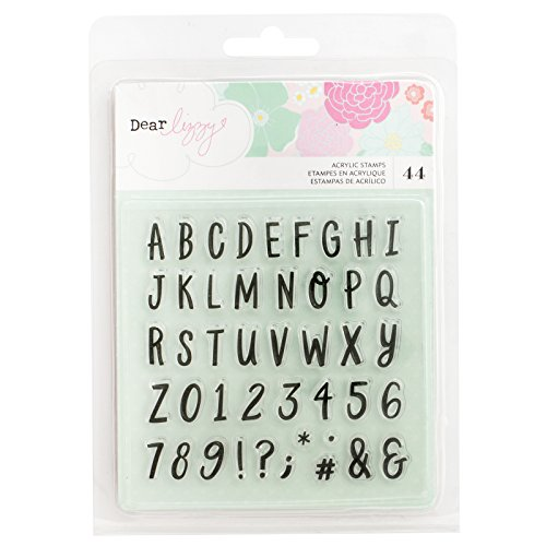 (Dear Lizzy 44 Piece Alpha Stamp Set Star Colorful)