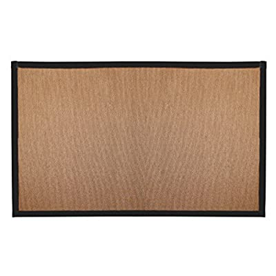 CHICOLOGY Floor Mats No Dust Paper Fabric Close Out Area Rug 4 FT X 6 FT Audrick Black Khaki (Natural Woven) - FABRIC: Paper Yarn SIZES: 2'x3' 3'x5', 4'x6', 6'x9' DESIGNED TO: protect floor, anchor furniture, add beauty and texture - bathroom-linens, bathroom, bath-mats - 51gTj55%2BL7L. SS400  -