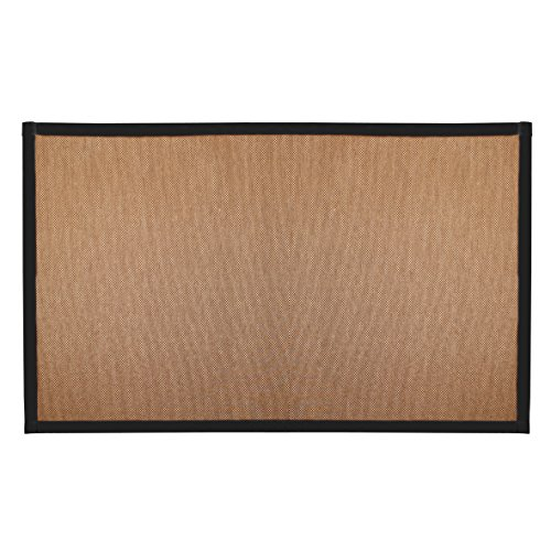 Chicology Floor Mats, No Dust Paper Fabric Close Out Area Rug, Audrick Black Khaki (Natural Woven) - 6 FT X 9 FT (Rug Bamboo Black)