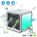Leegoal Personal Space Air Cooler, 3-in-1 Portable Mini Humidifier & Purifier, Third Gear Speed Chill Room, 7 Colors LED Lights