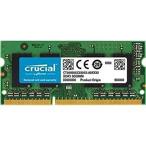 Crucial 8GB Single DDR3L 1600 MT/s (PC3L-12800) SODIMM 204-Pin Memory - CT102464BF160B