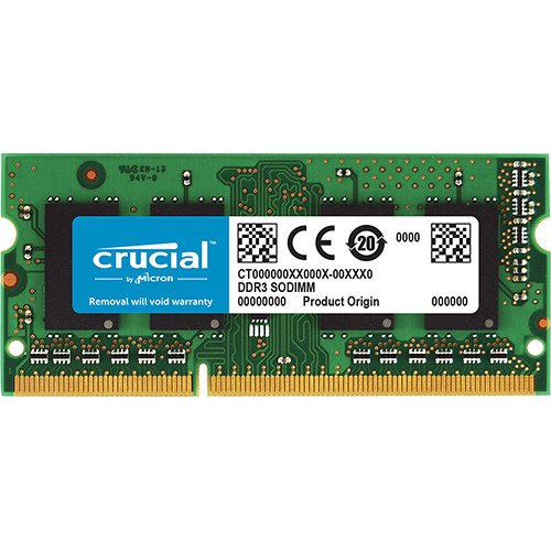 Crucial 8GB Single DDR3L 1600 MT/s (PC3L-12800) SODIMM 204-Pin Memory - CT102464BF160B