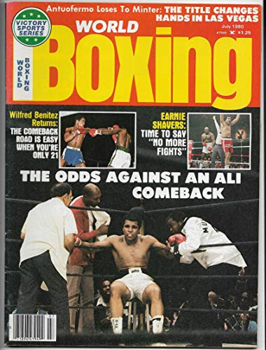 - July 1980 Issue Of World Boxing Magazine With Muhammad Ali On The Cover