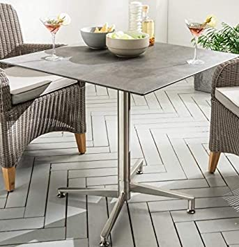 Amazon De Destiny Tisch Loft Gartentisch 70 X 70 Edelstahl Hpl