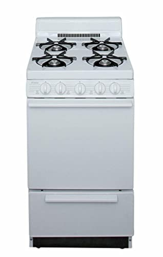 Amazon.com: 2,42 CU. FT. Gas Gama acabado: blanco: Aparatos