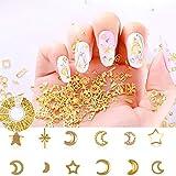 Metal Nail Studs 3D Nail Art Supplies Gold Nail