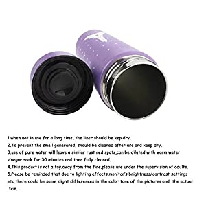 KateDy Insulated Stainless Steel Water Bottle Cup Baby Kid's Eiffel Tower Coffee Travel Mug(280ml,Purple)| 1 set/3pcs Bottle Brush Cleaner Kit Pacifier Nipple Sponge Cleaner(Random Color)